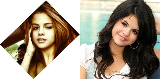 Selena Gomez With and Without Makeup