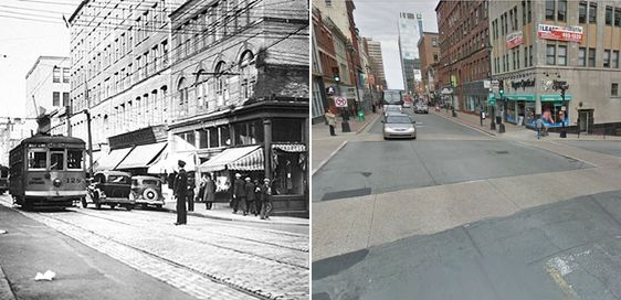 1593 Barrington St. Halifax, NS, Canada then and now