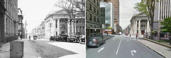 1724 Granville Street, Halifax, Nova Scotia, Canada then and now