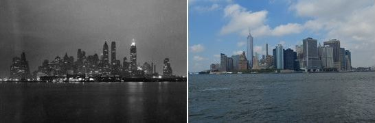 Lower Manhatten from Governor's Island. NYC, USA. 1938 - 2013