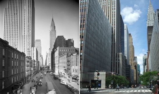 East 42nd St. corner of 2nd ave. New York City, USA 1937 - 2010